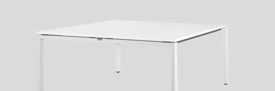 table rectangulaire blanc