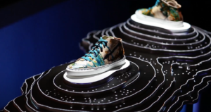 Mapping vidéo chaussures retail
