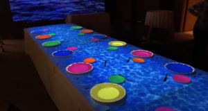 Vidéo Mapping Table Restaurant